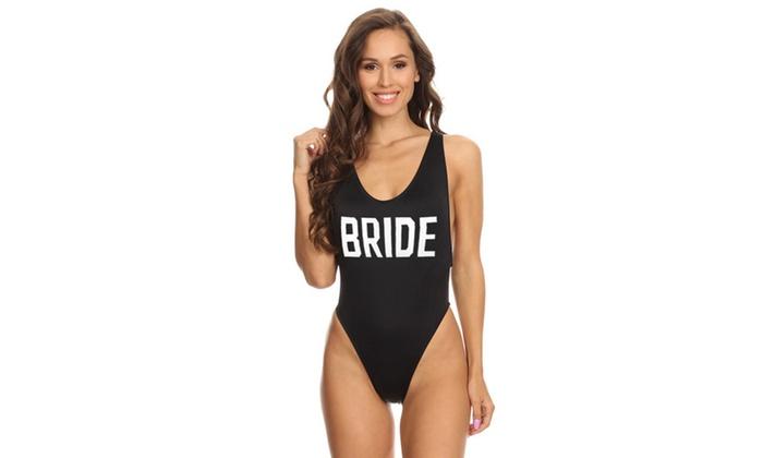 6c02f37d481 1093-brideblk Black Bride Womens V-Cleavage High Cut One Piece S Tank Black  One Piece Solid Hand Washing