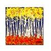 Roderick Stevens White Aspens Canvas Print