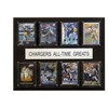 """NFL 12""""x15"""" San Diego Chargers All-Time Greats Plaque"""