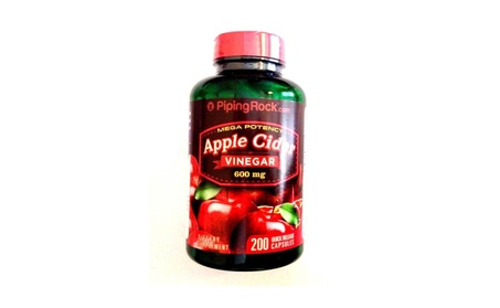 Apple Cider Vinegar Mega Potency 600mg 200 Pills Capsules