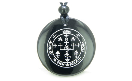 Sigil of the Archangel Uriel Magical Amulet Magic Gemstone Spiritual Powers Pendant Necklace