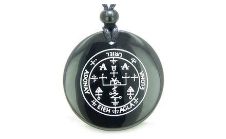 Sigil of the Archangel Uriel Magical Amulet Magic Gemstone Spiritual Powers Pendant Necklace