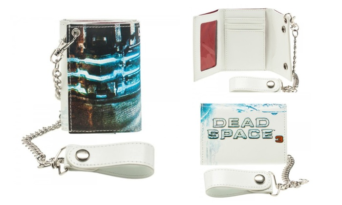 Dead Space 3 X Box Game Isaac White Chain Trifold Wallet