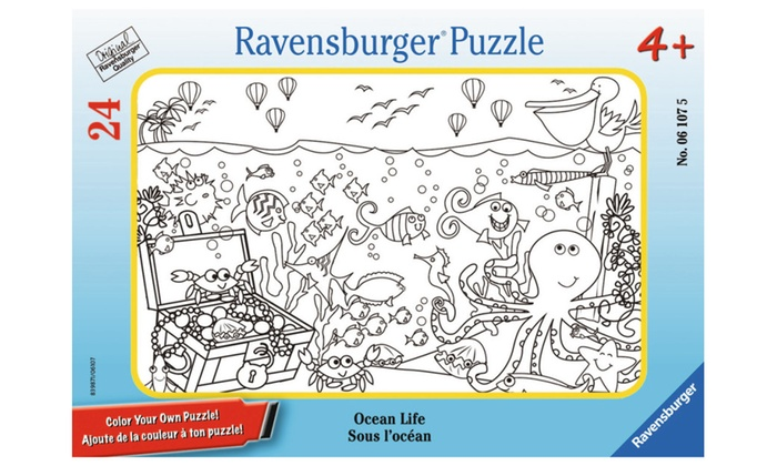 Ravensburger Color Your Own Mini Frame Puzzles - Ocean Life 06107 ...