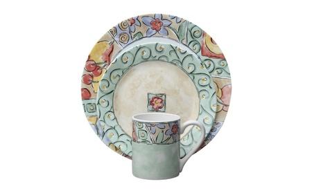 Corelle Impressions 16-Piece Dinnerware Set, Watercolors, Service for4