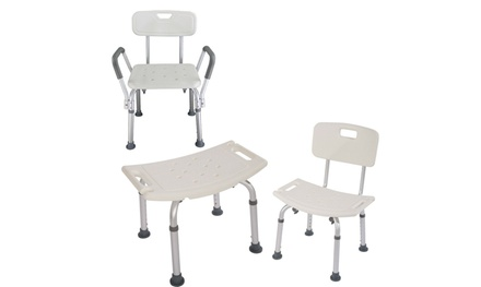 Adjustable Elderly Bathtub Bath Tub Shower Seat Chair Bench Stool Seat Backrest