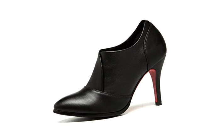 Women ladies Fashion Europe Leather  High Heel Pumps shoes