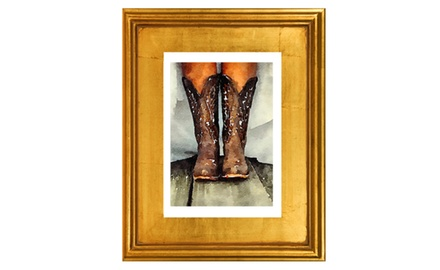 Getting married with my boots on- Framed fine art