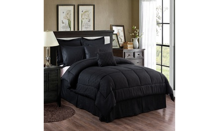 Plaid Comforter And Sheet Set Bed in A Bag(8- or 10-Piece)