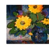 Sheila Golden Tree Yellow Flowers Canvas Print 26 x 32
