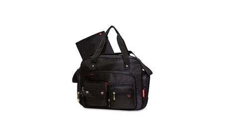 Fastfinder Deluxe Diaper Bag Black Messenger 11d8dcaf-b9b4-4fbb-bc7c-716314a28a61