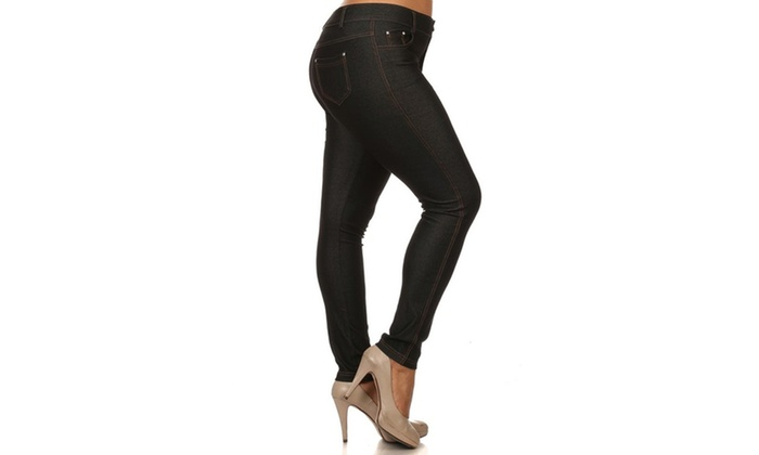 Basic 5 Pocket Colored Jeggings – Plus Size P