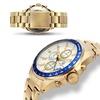 Aubert Freres Chronograph Batali Mens Watch Gold/Gold/White