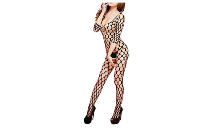 Fishnet Crotchless Bodystocking Lingerie