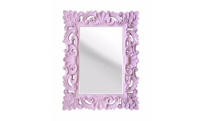 Groupon Goods: Stratton Home Decor Lavender Elegant Ornate Wall Mirror