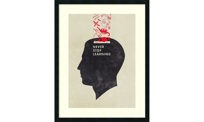 Hannes Beer \'Never Stop Learning\' Framed Art Print 28x36-in | Groupon