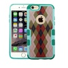 Insten Argyle Hard Case For Apple iPhone 6 Plus 6s Plus - Green Brown