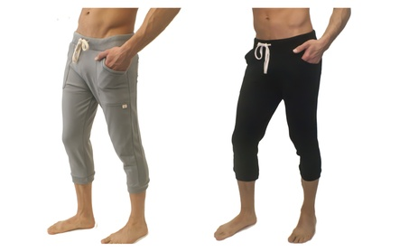 Qflex Warrior Yoga Pants for Men - Black & Grey, in all Sizes 71b66959-67fd-4b50-bd84-ee77080a01fa