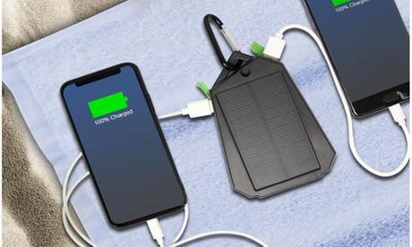 Solar USB Power Bank Dual Phone Charger (Multiple Colors) 7f7a122a-2812-406b-ac23-d0b36cebd467