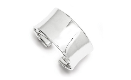 IceCarats Designer Jewelry Sterling Silver 30mm Cuff Bangle Bracelet
