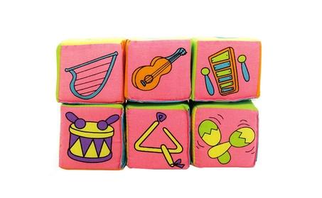 6pcs Cloth Building Blocks Rattle Baby Educational Toy Soft Cubes Toy 543dcd73-36eb-42ca-acc3-5fcb92167879