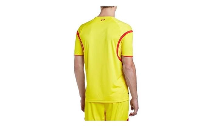 05c2f4a6d Warrior Liverpool Away Short Sleeve Yellow Jersey Warrior Liverpool Away  Short Sleeve Yellow Jersey
