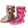 Journee Kids Sequined Bow Boots