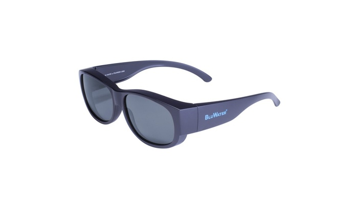 BluWater Matte Black Frame with Grey Polarized Lens