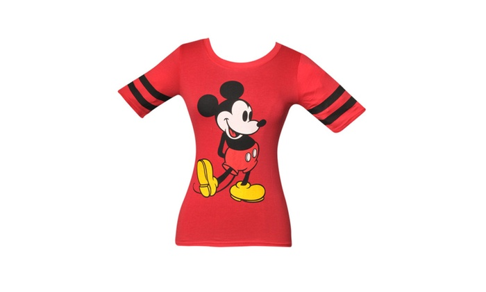 4f5c7c99 Shy Mickey Mouse Baseball Tee Red T-shirt | Groupon