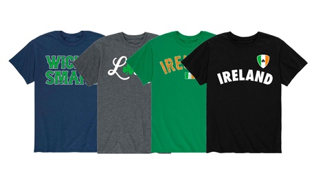 Men's Top Selling St. Patrick's Day Graphics Short Sleeve Top Tee T-Shirt