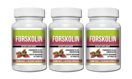 Pure Forskolin Extract 20% 180 Capsules - 3 Bottles
