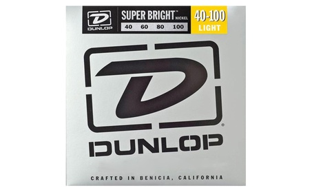 Dunlop - Super Bright Nickel Plated Steel Bass 4 String Set, .40.100 7da30ed0-2fca-4b4a-a314-48ea325a4b83