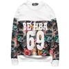 Men's Loose Fashion Crew Neck Hip Pop Pullover Sports Sweatshirt