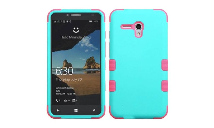 Groupon Goods: Insten Tuff Hybrid Case For Alcatel One Touch Fierce XL Teal Pink