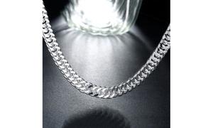 Silver Silver Cuban Figaro Chain Unisex Chain Necklace