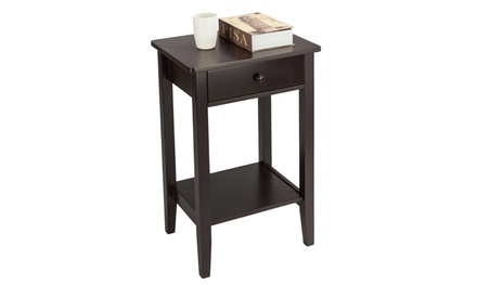 Bedroom Furniture Two-layer Bedside Coffee Table Nightstand Drawer Side Table