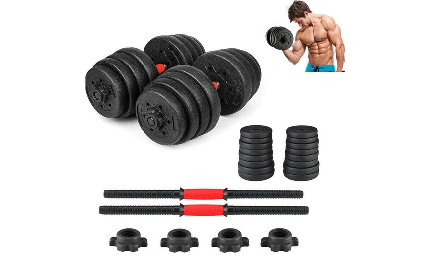 Empty New Weight Dumbbell Set 66LB Adjustable Gym Barbell Plates Body Workout