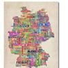 Michael Tompsett Germany Text Map Canvas Print