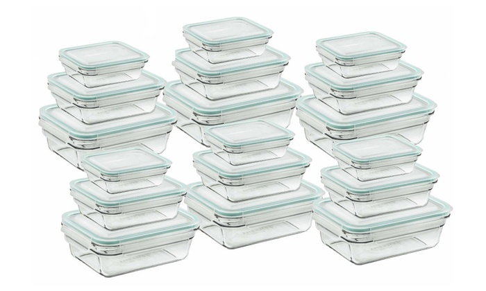 Glasslock Food Storage Container Sets Beauteous Up To 60% Off On Glasslock Oven Safe 60 Piece Groupon Goods