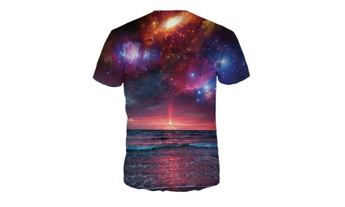 LINA Men's Sunset Digital Printing T-shirt