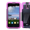 Insten Hybrid Case w/stand For Alcatel One Touch Pop StarBlack/ Pink