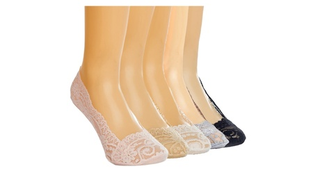 5 Pair Anti Slip Lace Invisible Ankle Socks 60b273e9-67bc-4685-96c0-bce50e6ddfd1