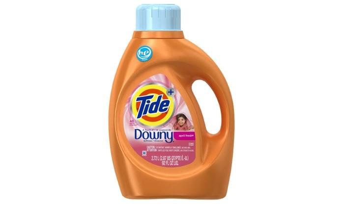 Tide High Efficiency Liquid Detergent Downy April Fresh 92