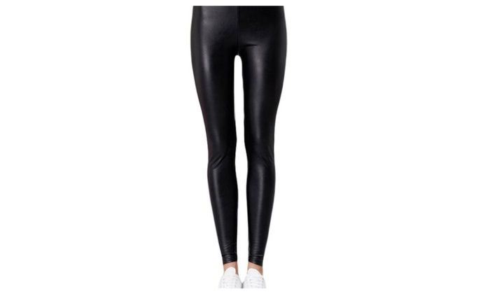 Lady slim High Rise Fashion PullOnStyle Trousers - Black / One Size