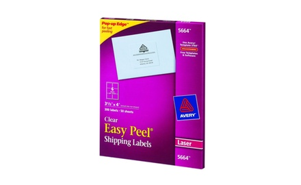 Avery Address Labels, Clear, 3.33 x 4-Inches, Box of 300 (5664)