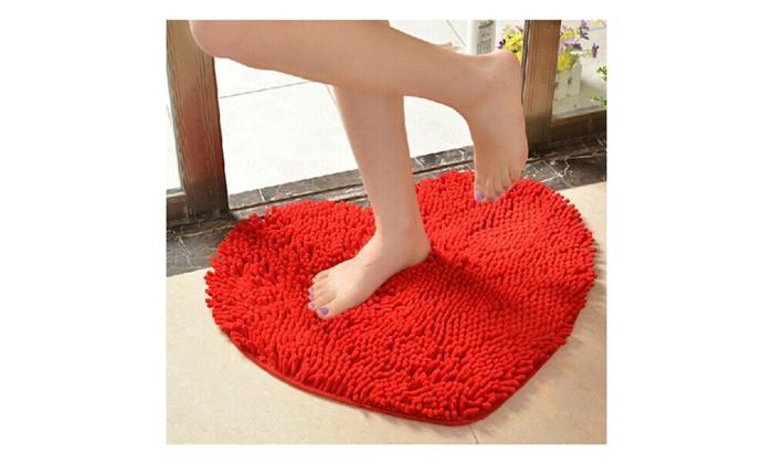 Cute Love Heart Shaped Non Slip Bathroom Rug Carpet Mat
