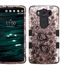Insten Tuff Hard Hybrid Silicone Case For LG V10 Rose Gold Black