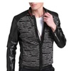 Men's Fashion Slim Fit Printed Long Sleeve Casual Stand Collar Jacket