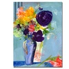 Sheila Golden Purple Flowers Canvas Print 24 x 32
