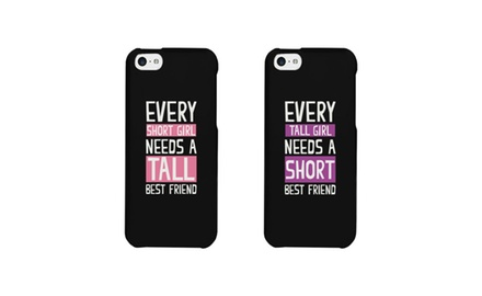 BFF Phone Cases - Tall and Short Best Friend Matching Phone Covers for iphone 4, iphone 5, iphone 5C, iphone 6, iphone 6 plus, Galaxy S3, Galaxy S4, Galaxy S5, HTC M8, LG G3